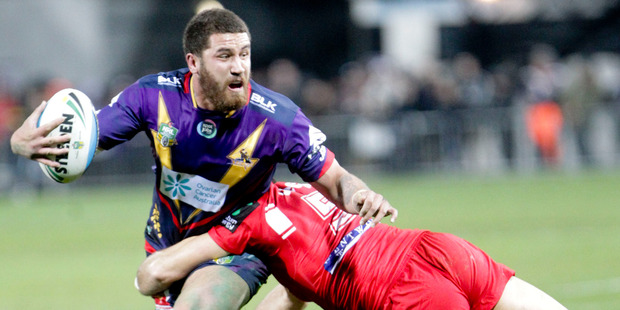 Kenny Bromwich on the ball for the Storm. Photo / Paul Taylor.