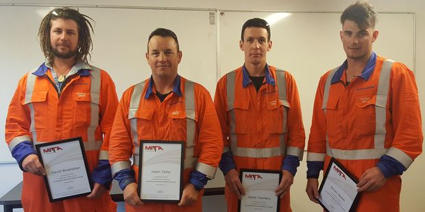 Line mechanics Dave Brosnahan, who will be based in Paraparaumu; Jason Teller, based in Dannevirke; Jared Tawharu and Ethan Walsh, both based in Feilding.