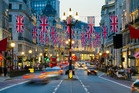Regent Street in London.  The weak pound is attracting Kiwis to British online shops. Photo / Getty