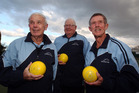 Bruce Stewart (left), Dudley Hunt, and Ian Mason from Havelock North Bowling club.