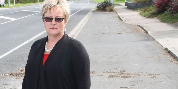 Flagstaff resident Karen Arden is one of 1300 in the area who've been slapped with a Waikato Regional Council rate increase because their property is within 800m of a skeleton bus service.