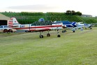 Planes parked on Waiheke Island Airfield which is up for sale.