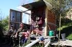 Community stoush over Whitebaiting hut. Video By Stuart Munro