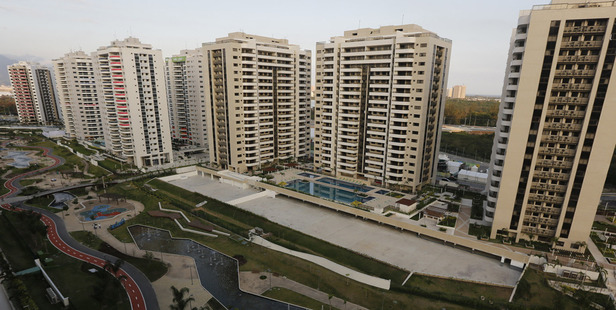 The athletes' village in Rio. Photo / AP