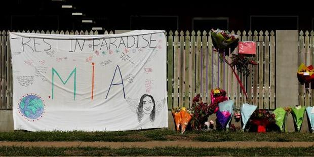 Flowers and memorial at scene of Home Hill Backpackers. Photo / Mark Calleja, News Corp Australia
