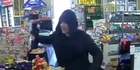 Watch: Watch: Christchurch dairy robbed by axe-wielding thief