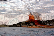 The Blood Falls seep from the end of Antarctica's Taylor Glacier into Lake Bonney. Photo / Creative Commons image from Wikimedia, by the National Science Foundation/Peter Rejcek
