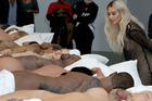 Kim Kardashian attends Famous by Kanye West a private exhibition event at Blum And Poe. Photo / Getty Images