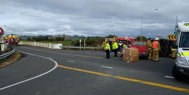 Scene of the crash. Photo / Philips Search and Rescue Trust