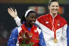 2008  silver winner Yarelys Barrios of Cuba. Photo / AP
