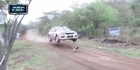 Watch: Watch: One lucky dog! Rally car jumps over dog