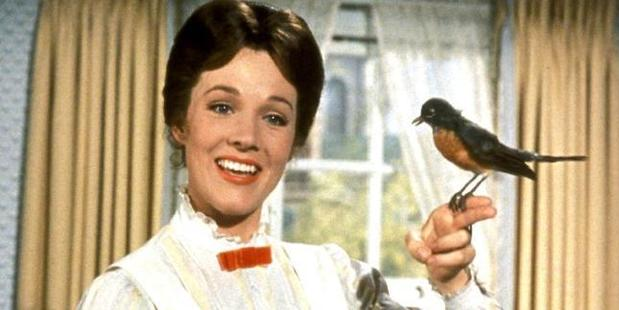 Julie Andrews as the original Mary Poppins.