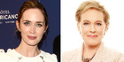 Julie Andrews (right) thinks Emily Blunt is perfect to play the part of Mary Poppins. Photos / AP, Supplied