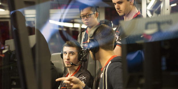 Loading Gaming ESports players from complexity gaming discuss tactics before a match at The International 2015 against Evil Geniuses. Photo / Flikr Creative Commons