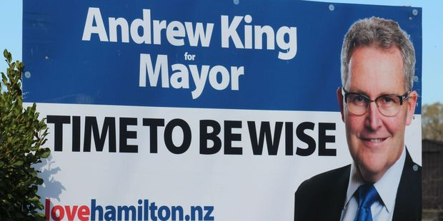 Andrew King's sign.