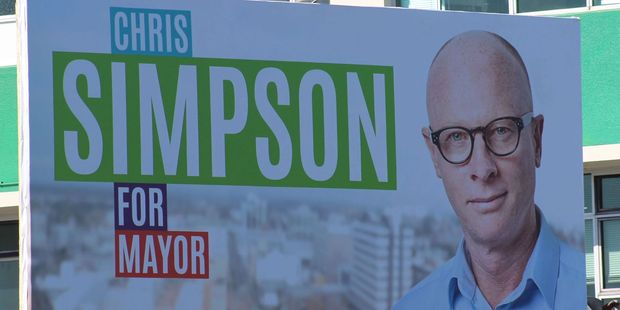 Chris Simpson's billboard.