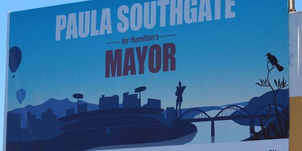 Paula Southgate's billboard.
