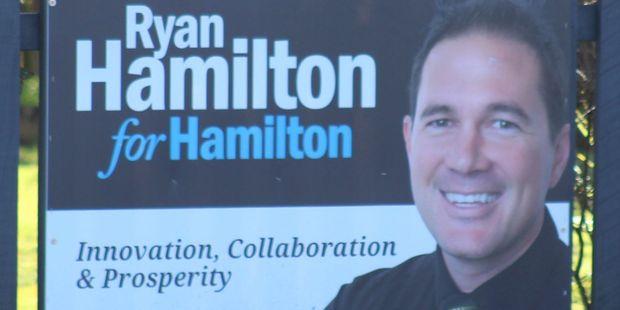 Ryan Hamilton's sign.