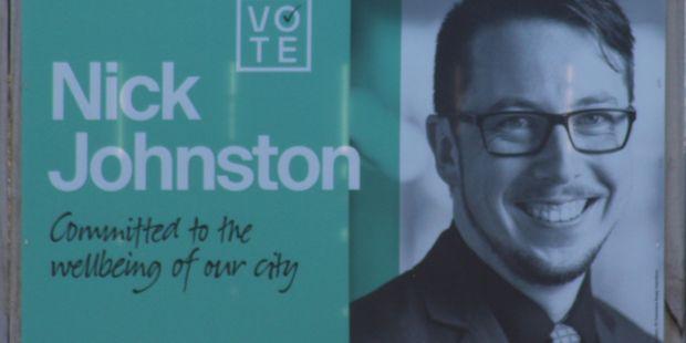 Nick Johnston's sign.