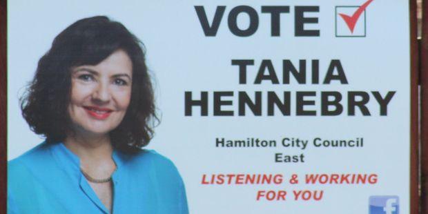Tania Hennebry's sign
