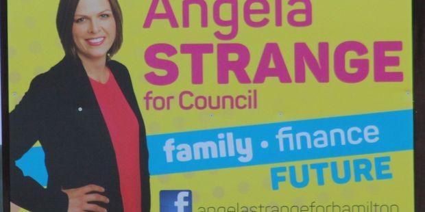 Angela Strange's sign