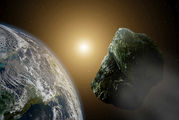 An asteroid larger than a Blue Whale whizzed between the Earth and the moon. Photo / iStock