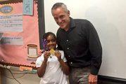 Chloe Smith with Olympic champion Joe Jacobi. Photo / Atlanta Public Schools