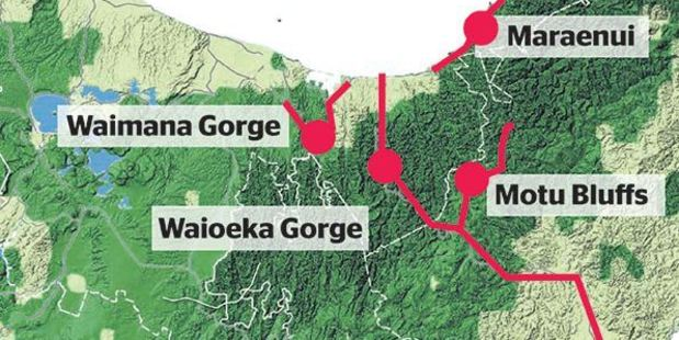 Danger areas in the North Island following the 7.1 quake.
