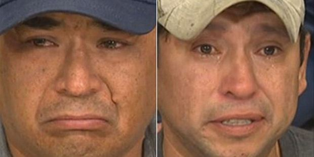 Leon Swanson, left, and David Tait, right, broke down in tears after being told they were switched at birth. Photo / Supplied