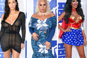 Kim Kardashian West, Parris Goebel and Farrah Abraham on this year's red carpet. Photos / Getty