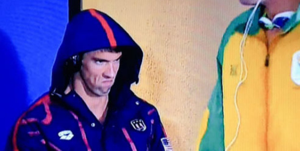 Michael Phelps has finally revealed what was going on when he made this face.