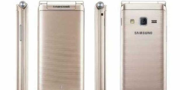 New Samsung flip phone. Photo / Samsung/Weibo