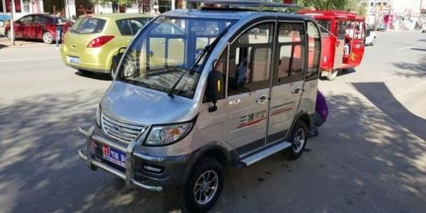 Souped up mobility scooters such as this 'Land Rover' are proving popular with elderly Chinese. Photo / Supplied
