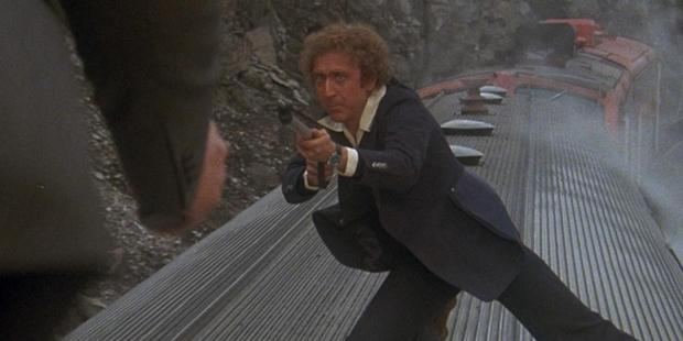 A scene from the movie Silver Streak starring Gene Wilder.