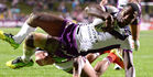 The Melbourne Storm sit in top spot with one round to play. Photo /Getty