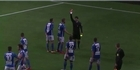 Watch: Watch: Red card for footballer celebration