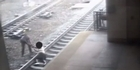 Watch: Watch: Hero New Jersey transit cop saves man from train tracks