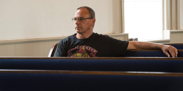 Ralph VanNess, is a Calvary Baptist Church pastor and a security guard at Gloucester High School. In 2014, he spoke in favour of banning Gavin from the boys' bathroom. Photo / Washington Post