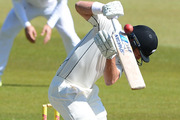 Neil Wagner of New Zealand attempts to avoid a short ball. Photo / Getty
