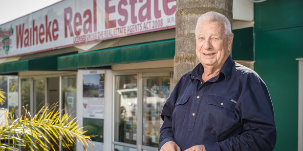 At 74, Kevin Martin still heads off daily to his job at Waiheke Real Estate, where he has sold property for the past 31 years. Pic Ted Baghurst