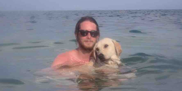 Jacob Welsh made friends with an abandoned dog while on holiday in Greece and has raised money to bring her back with him to Australia. Photo / Facebook