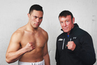 Joseph Parker and Kevin Barry. Photo / Photosport