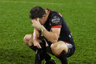 A dejected Warriors captain Ryan Hoffman following last night's 40-18 loss to the Eels at Mt Smart Stadium. Photo / Photosport