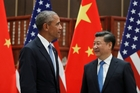 US President Barak Obama and Chinese President Xi Jinping ratified the Paris accord on climate change. Photo / AP