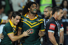 Jamal Idris in action for the Kangaroos in the 2011 Anzac test against the Kiwis. Photo / Photosport