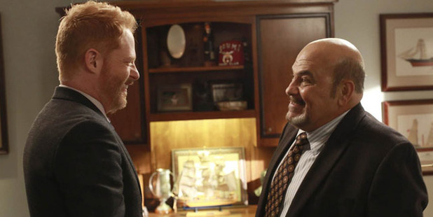 On several episodes of Modern Family, Jon Polito played the business archrival of Jay Pritchett, series regular Ed O'Neill.