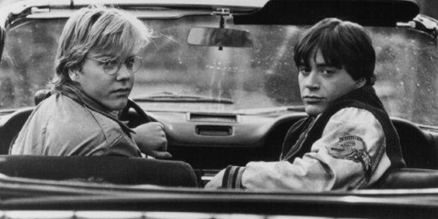 """In the late 1980s, Kiefer Sutherland and Robert Downey Jr. both starred in a movie called 1969 and ended up """"kind of"""" living together for three years."""