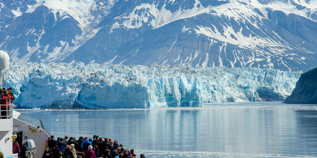 At Hubbard Glacier, tourists have the opportunity to see huge blocks of ice crumbling away. Photo / 123RF