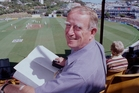DJ Cameron, on duty at the Basin Reserve, wrote about sport for the Herald for 47 years. Picture / Mark Mitchell