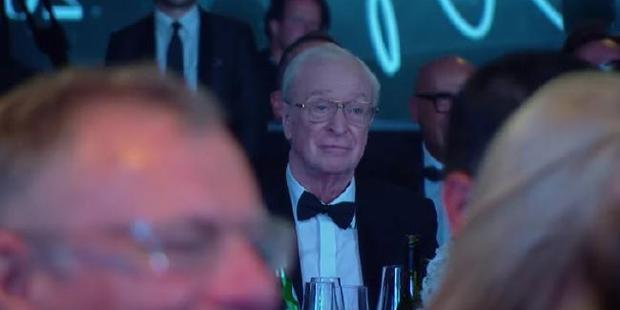 Michael Caine was most certainly not amused by Schumer's antics. Photo / YouTube